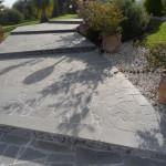 realizzazione scale in cemento con rivestimento in pietra lavica